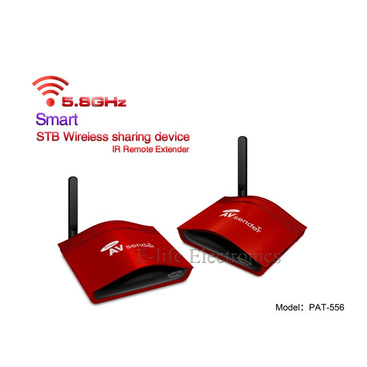 5.8G Pintar Digital Set-top box Berbagi Perangkat Nirkabel Transmitter dan Receiver AV Sender IR Extender Dengan IR Remote PAT-556