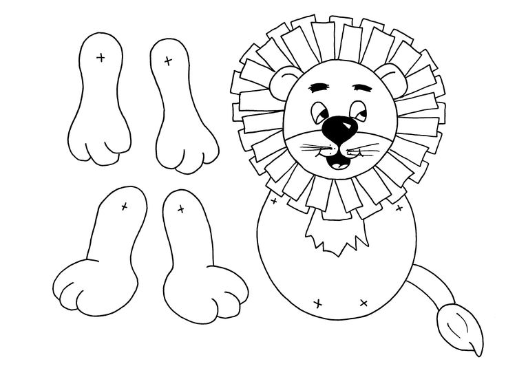 Pin printable lion paper bag puppet template on pinterest for Tiger puppet template