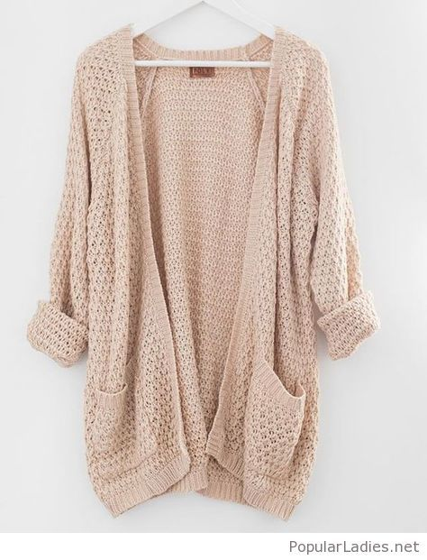 Simple nude cardigan