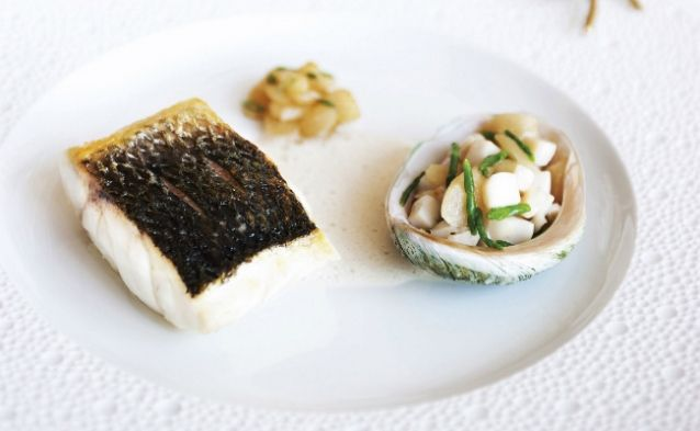 How To Make Sea Bass and Abalone in Champagne Emulsion
