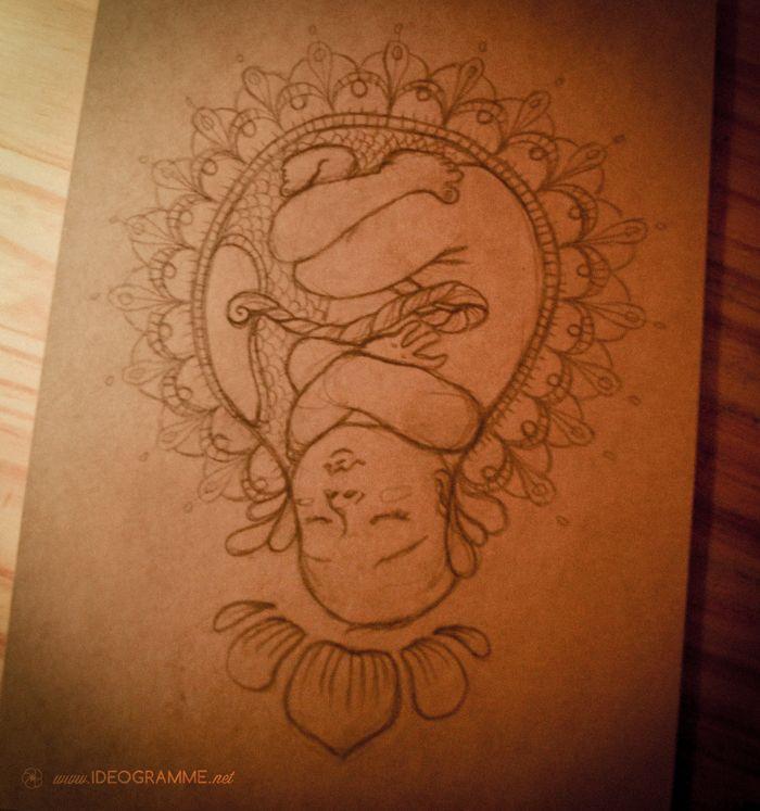 [ Croquis de naissance ] Histoire d'aider bébé à arriver... Petite piqûre de rappel : toujours en congé maternité.😊 En attendant, je prends un repos bien mérité !