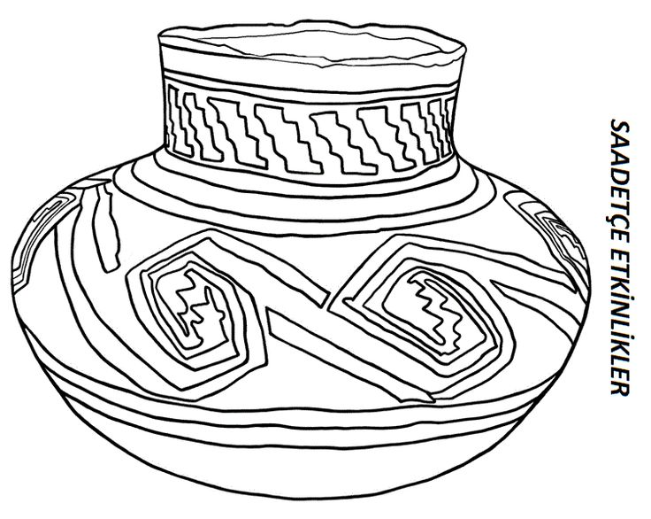 Pueblo Pottery Coloring Pages
