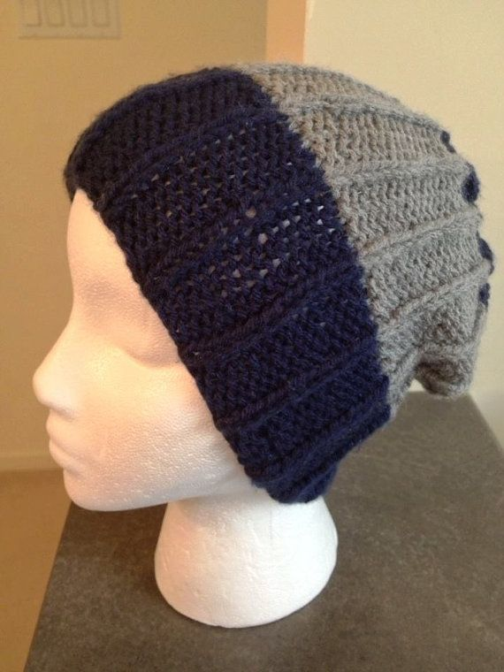 Men's Beanie/ribbed men's hat/Slouch Men Hat/winter by Knitkozi, $20.00 For more selection of hand knit hats and scarves visit: https://www.etsy.com/ca/shop/Knitkozi?ref=si_shop