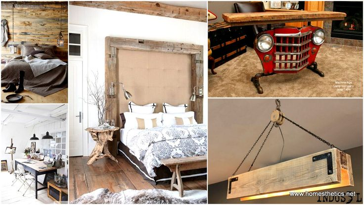 Wood DIY Projects can include wood and mason jars lamps, salvaged wood diy headboard, industrial wooden chandeliers or vintage benches. It is worth mentioning that from branches, twigs and stumps up to salvaged wood and wooden beams the wooden textures are transforming interior design lines throughout the world.
