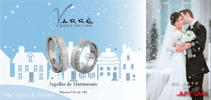 El Arte de Ammar ♥   Argollas de Matrimonio Oro & Platino / Anillos de Compromiso Platino & Diamante... Feliz Víspera de Navidad... #navidad #momentos #viernes #tbt #joyería #diciembre #amor #yonovia