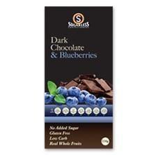 Sugarless Co Dark Chocolate & Blueberries 150g - $7.95 at http://thediabetesstore.com.au/
