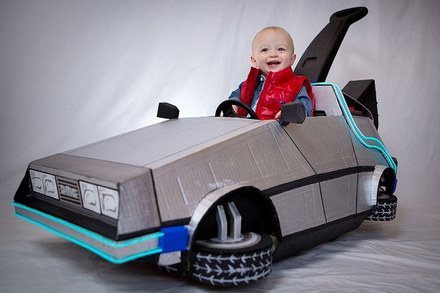 Geeky Mom Converts Her Toddler's Push Car Into a DeLorean Time Machine From 'Back to the Future'