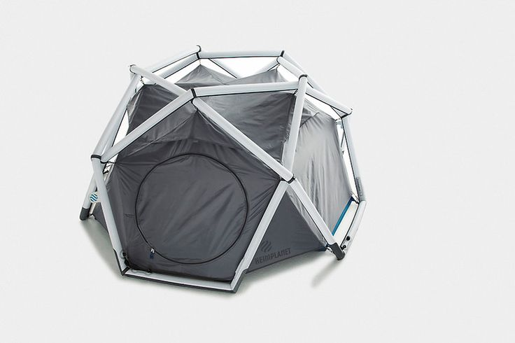 Inflatable Geodesic Tent Makes Tent Poles Obsolete