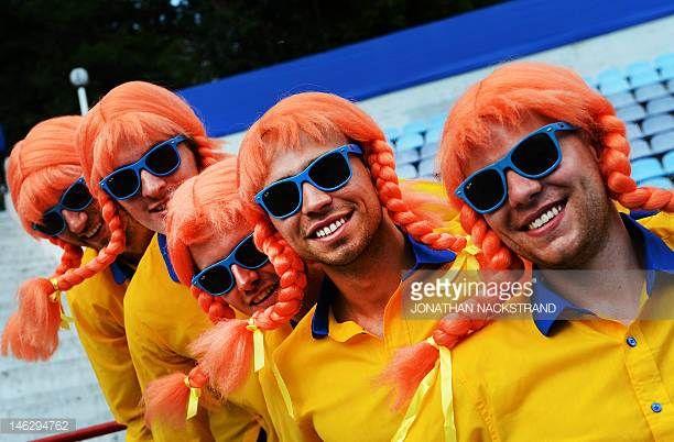 Bildresultat för football fans in pippi wig