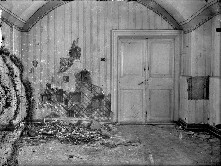 The basement room of the Ipatiev House in Yekaterinburg, where the Imperial family were murdered.