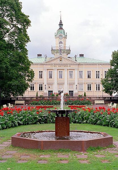 The old Town hall of Pori, Finland.Built in 1839–1841