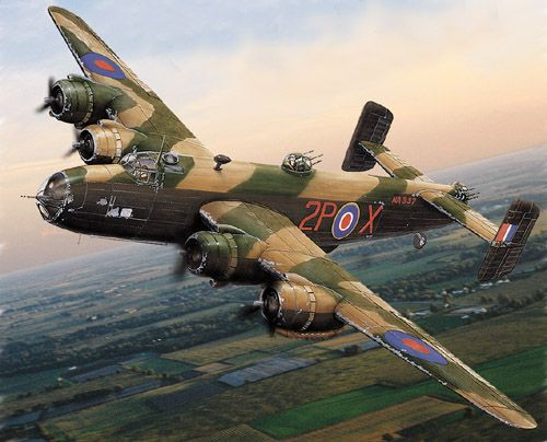 Handley Page Halifax Bomber.  The Halifax was also operated by squadrons of the…