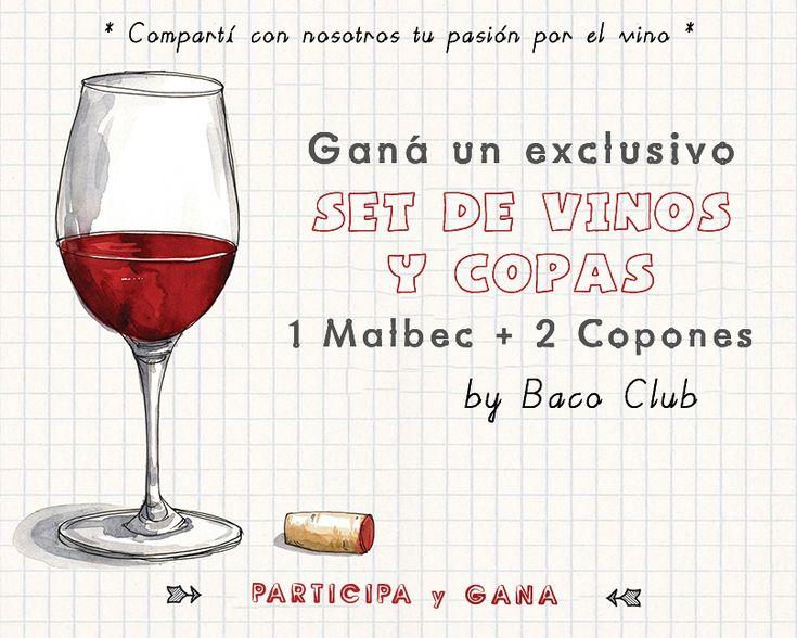 GAN� UN EXCLUSIVO set de vinos y copas