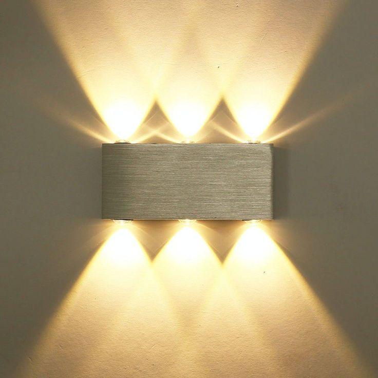 Design 6W LED Wandleuchte Wandlampe Flurlampe Wandstrahler Warmweiss Alu DHL In Mbel Wohnen Led WandleuchtenWohnzimmer