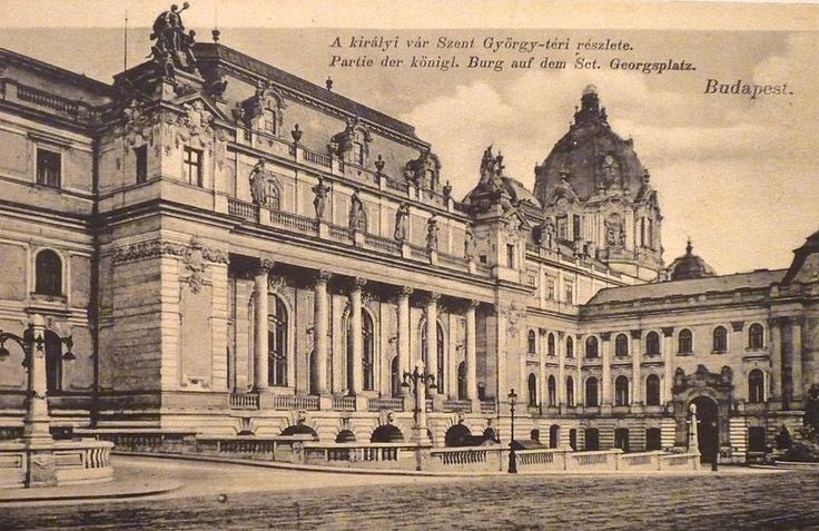 The western forecourt with the facade of the Grand Ballroom