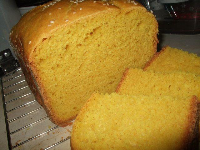 Кукурузный хлеб хлебопечка с сыром