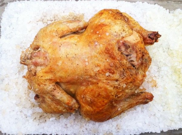 Rock Salt Roasted Chicken - the most flavorful, juicy way to cook a whole chicken plus it makes the skin perfect.