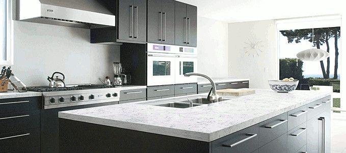 Piano #cucina in #okite articolo 1896 #biancocarrara #kitchen #arredamento #design