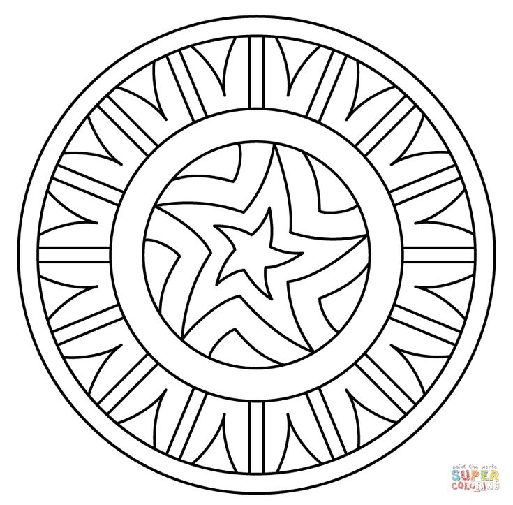 mandala with star pattern coloring page from star mandalas category select from 25665 printable crafts of cartoons nature animals bible and many more