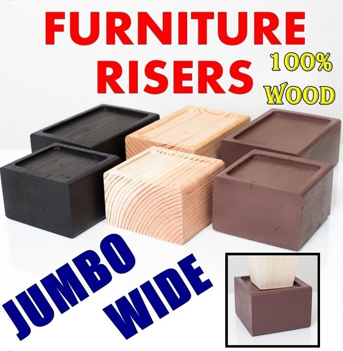 FURNITURE RISER     WIDE, Raise Bed, Lift, Storage, Organize