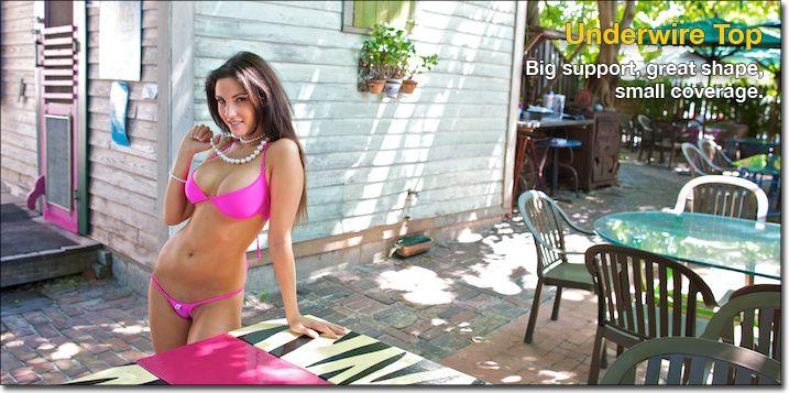 Conch Republic Bikinis - Under wire Top. Big support, great shape, small coverage.    #Sexy #bikini #bikinis #underwire #Zipper #Conch Republic