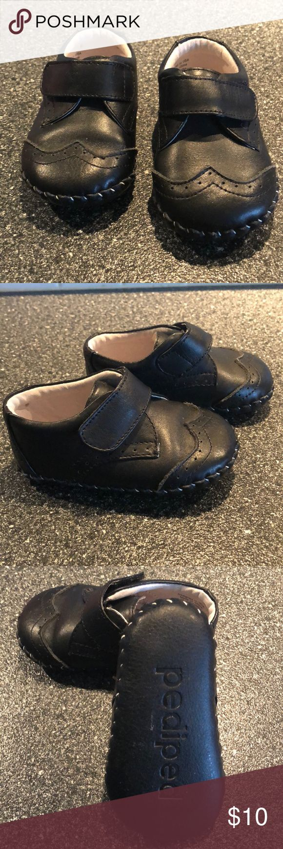 Pediped Black Leather Shoes - Unisex Great black Pediped shoes. Marked as size 12/18 months. My daughter wore when she was wearing a 4C. Wore Once for picture day. EUC pediped Shoes Dress Shoes