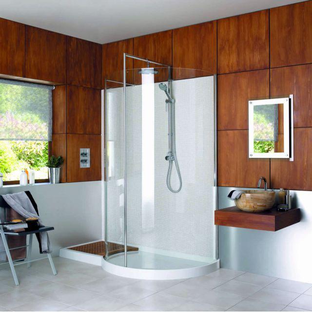 Matki Shower Enclosures >> Matki Original Walk-in Curved Corner Shower Enclosure | Bathroom | Pinterest | Corner shower ...