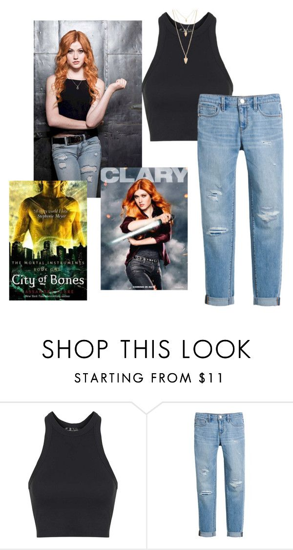 """Katherine McNamara as Clary Fairchild"" by freefriendswillwalk ❤ liked on Polyvore featuring Topshop, White House Black Market and Forever 21"
