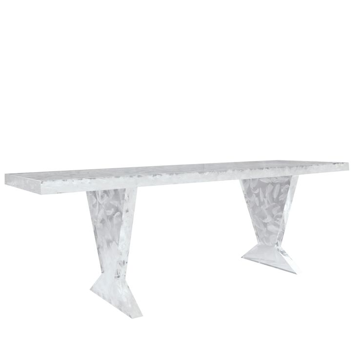 Buy LU19 Feather Acrylic Bench by Serge de Troyer - Made-to-Order designer Furniture from Dering Hall's collection of Contemporary Transitional Benches.
