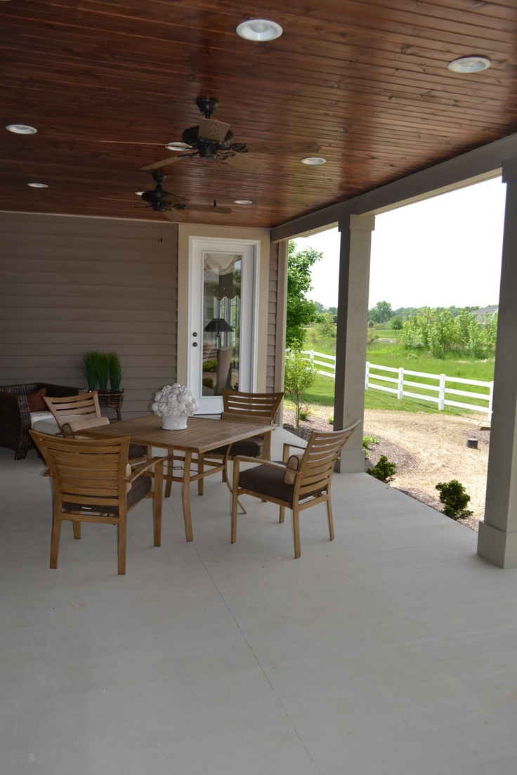 The Porch That Inspired Our Back Porch I Love That It S