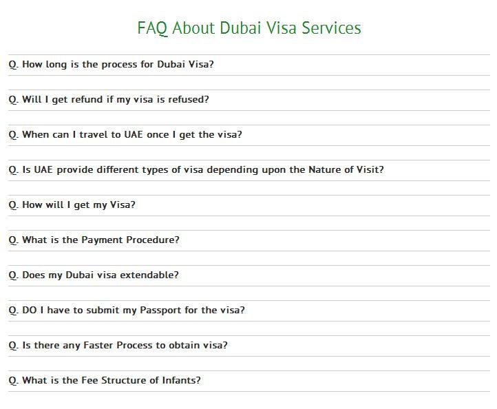 FaqS About Dubai And Uae Visit Visa Dubai Visa Processes