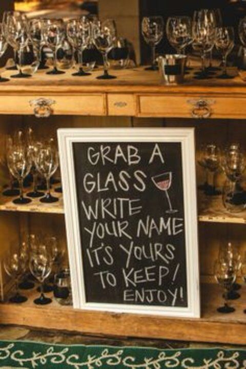 Wine glass giveaways