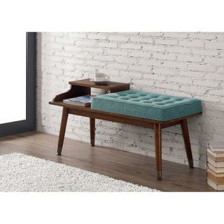 Shop for Mid-Century Style Tufted Telephone Bench Teal. Get free shipping at Overstock.com - Your Online Furniture Outlet Store! Get 5% in rewards with Club O! - 17487821