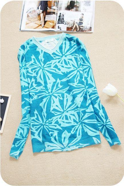 7381 старинные национальные тенденции 100% хлопок всего тела печати V образный вырез свитера, принадлежащий категории Пуловеры и относящийся к Одежда и аксессуары на сайте AliExpress.com   Alibaba Group