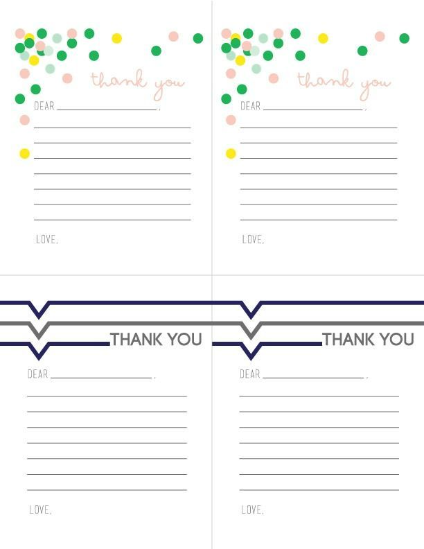 Printable Thank you Notes | Free Printable Thank you notes to use anytime of the year. Designed by Kiki & Co. for TodayscreativeLife.com