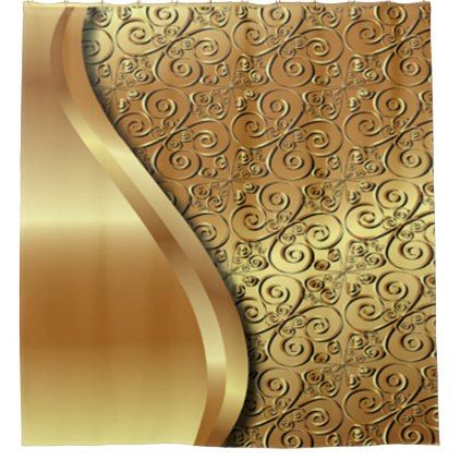 two tone gold plated texture with a gold butterfly shower curtain glitter gifts personalize gift
