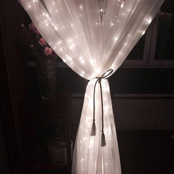 Tenda Luminosa di Natale,SOLMORE 4m x 0.6m 120 LEDs Luci Tenda Finestra stringa fata per Decorazione Interno ed esterno Natale Xmas stringa fata nozze Luci della tenda 220V: Amazon.it: Illuminazione