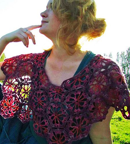 Ravelry: MARABELLA Crochet Capelet pattern by Amanda Perkins  This pattern is available for £3.00 GBP