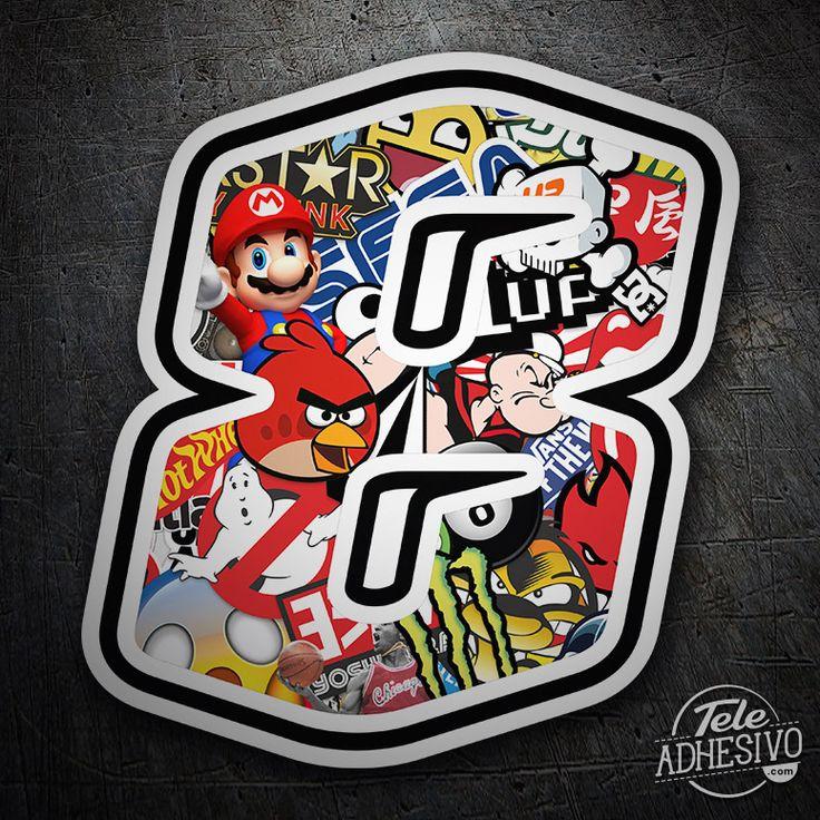 Pegatinas: Número 8 Speed Stickerbomb #pegatinas #numero #adhesivo #decoracion #moto #coche #TeleAdhesivo