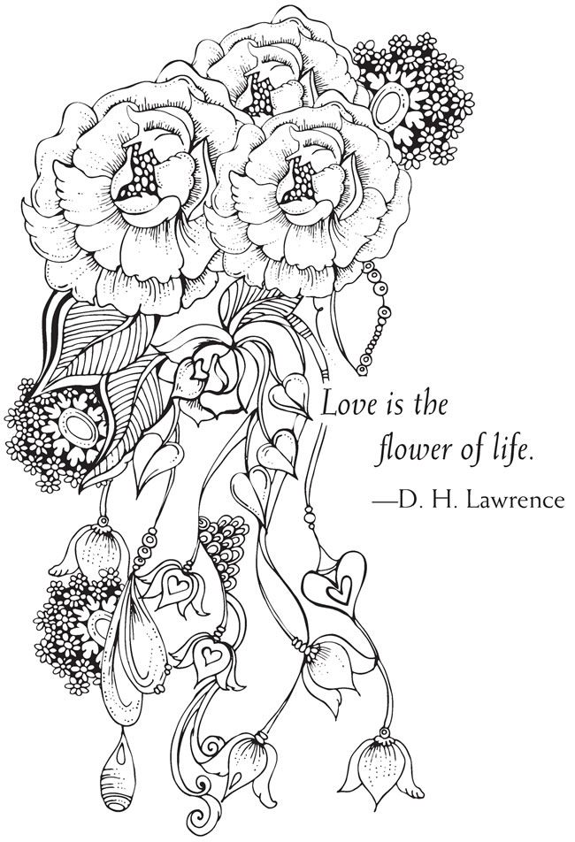 Welcome to Dover Publications Bliss Love Coloring Book: Your Passport to Calm