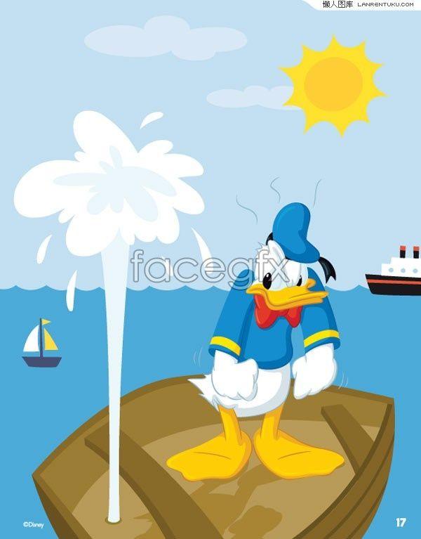 Donald Duck cartoon vector
