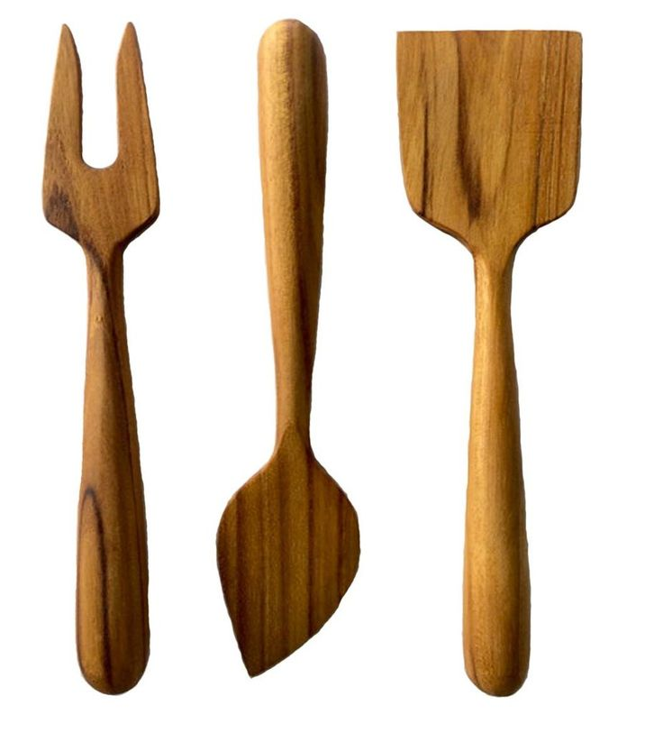 Teak Cheese Serving Utensil Set -- Impress guests at your next party with this three-piece cheese set, made of teak. Everyone will love the bold design — and the fact that the wood is reclaimed from excess material that the logging industry leaves behind.
