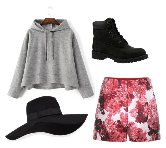 """""""Mo Kpop"""" by parispuppypony on Polyvore featuring Moncler Gamme Rouge, Timberland and San Diego Hat Co."""