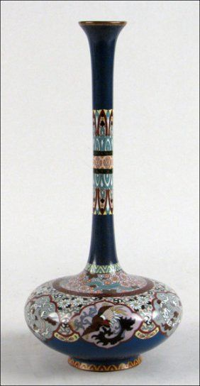 Meiji era Japanese cloisonne vase. The Meiji era in Japan extended from September 1868 through July 1912. During this period, Japan moved away from being an isolated feudal society. One reform was the promulgation of the Five Charter Oath in 1868.  Implicit in the Charter Oath was an end to exclusive political rule by the bakufu and a move toward more democratic participation in government.
