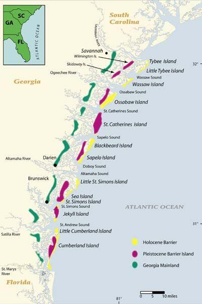 map of georgia usa coastline
