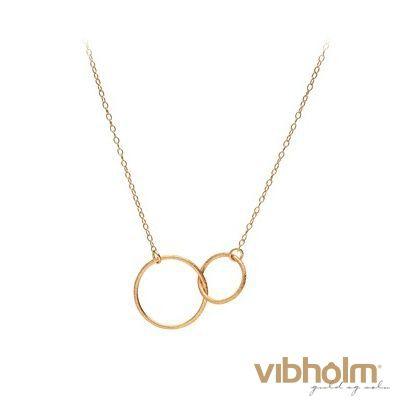 Pernille Corydon Double Plain Halskæde N224GP - gratis fragt | Vibholm guld og sølv
