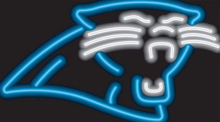 Carolina Panthers Neon Sign NFL Team Logo Football Fan Man