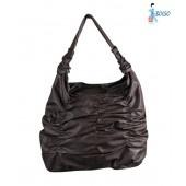 Bolso Brown Shimmery Gather Handbag