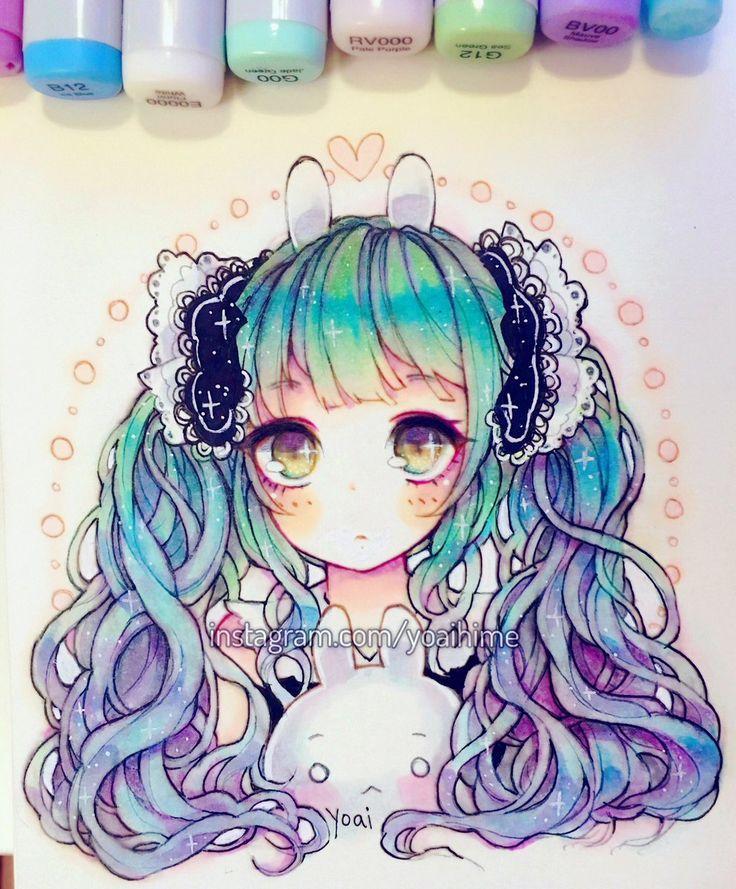 Anime Girl Hair Colors: Kawaii Drawings, Anime Art