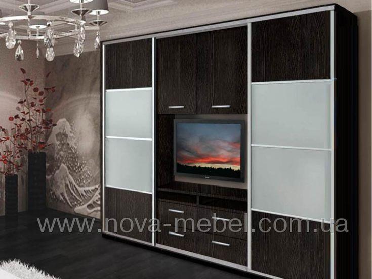 Шкаф-купе с нишей под телевизор http://www.nova-mebel.com.ua/tovar-1422.html